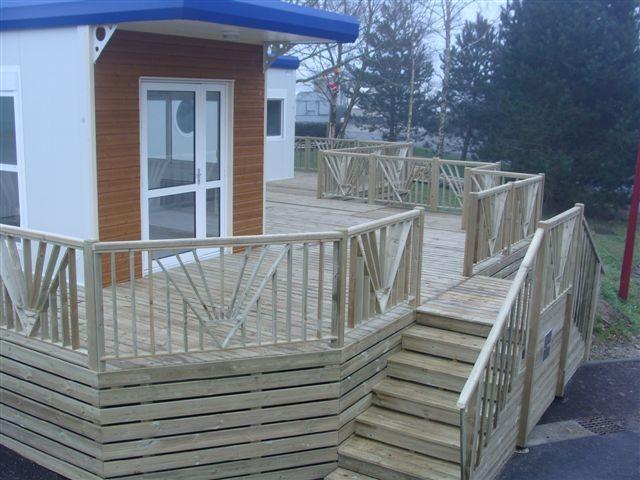 Terrasse En Bois Pour Mobil Home Mod Le Sur Mesure