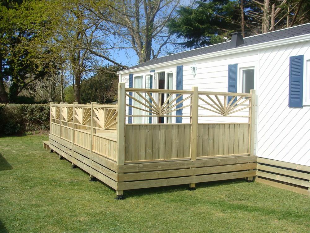 terrasse en bois pour mobil home mod u00e8le Elégance terrasse bois pour mobil home # Terrasse Bois Pour Mobil Home