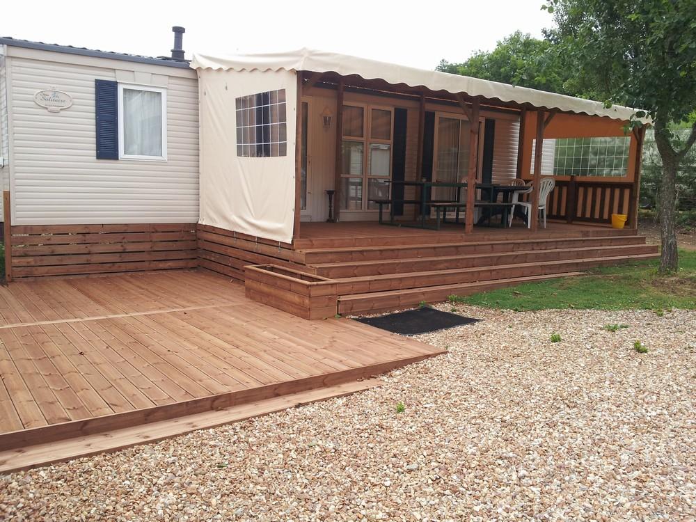 terrasse en bois couverte pour mobil home mod u00e8le b u00e2che terrasse couverte bois pour mobil home # Terrasse En Bois Pour Mobil Home