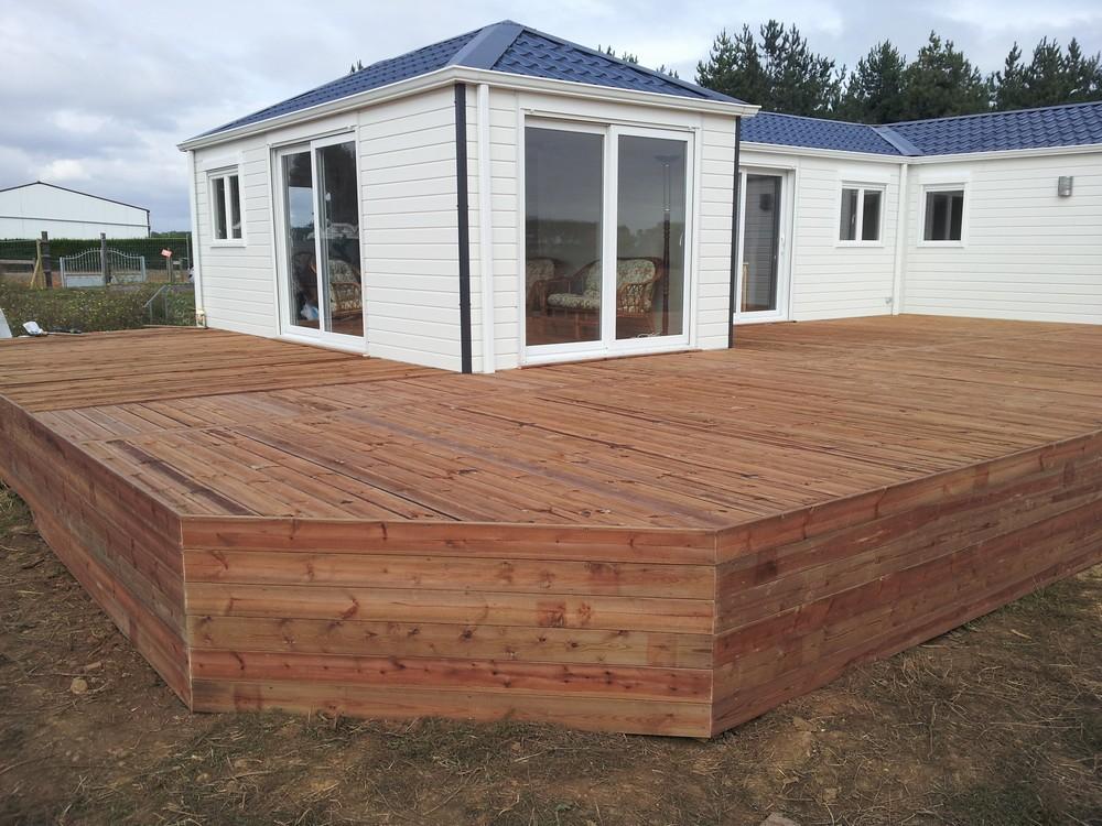 terrasse en bois pour mobil home mod u00e8le Sur Mesure terrasse bois pour mobil home # Terrasse En Bois Pour Mobil Home