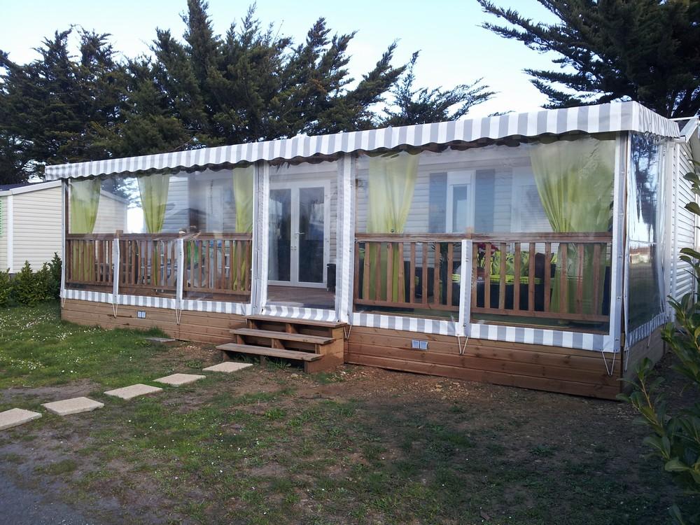 B che pour terrasse en bois de mobil home - Bache pour terrasse ...