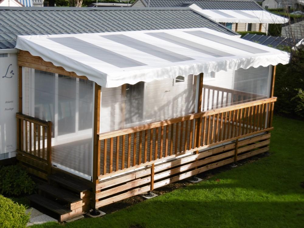 Bache Pour Terrasse En Bois De Mobil Home